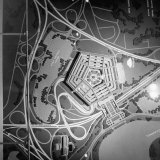 Overhead View of a Model of the Pentagon Building Photographic Print