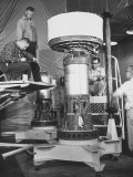 Rca Engineers and Technicians Giving Final Check to Nasa's Meteorological Satellite Tiros I Premium Photographic Print