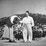 Man Kissing Hand of Suleiman Effendi Mershed Photographic Print