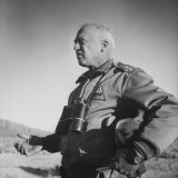 Gen. George S. Patton Jr. Observing Training Maneuvers in the Desert Photographic Print