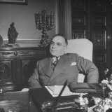 Portrait of President Getulio Vargas, Sitting at His Desk Photographic Print