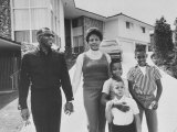 Singer Ray Charles Posing with Wife and their Three Young Sons Premium Photographic Print by Bill Ray