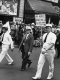 Wpa Workers Marching in the Labor Day Parade Premium Photographic Print