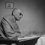 India's Gov. Gen. Chakravarthi Rajagopalachari Visiting Home of His Son-In-Law, Devadas Gandhi Photographic Print
