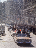Ticker Tape Parade for Astronaut John Glenn, the First American to Orbit the Earth from Space Premium Photographic Print by Ralph Morse
