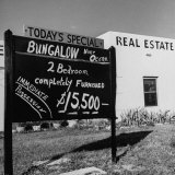 Close-Up of Real Estate Sign Photographic Print by Ed Clark