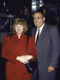 Mayoral Candidate of New York City Rudolph Giuliani and Wife, Actress Donna Hanover Premium Photographic Print by David Mcgough
