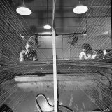 Men and Women Working Together in the Textile Factory Photographic Print by Carl Mydans