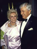 Television Personality Merv Griffin and Actress Eva Gabor Premium Photographic Print by David Mcgough