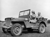 Wac Driving Jeep Photographic Print