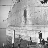 Ship Builder Henry J. Kaiser Standing in His Shipyard Photographic Print by Hansel Mieth