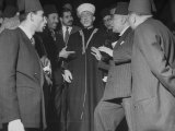 Haj Amin El Husseini, Mufti of Jerusalem, Attending Arab League Meeting Premium Photographic Print