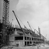 One Side of the War Department While Undergoing Construction Photographic Print