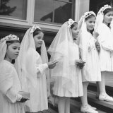 Dionne Quintuplets Posing in their Confirmation Outfits for their First Holy Communion Photographic Print by Hansel Mieth