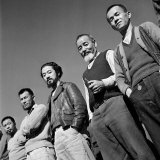 Men at Japanese Internment Camp, Tule Lake, CA, Photographic Print