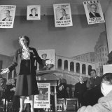 Clare Boothe Luce Speaking on a Stage During a Political Campaign Photographic Print