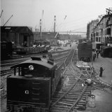 Freight Cars in the New York Dock Co. Yards on Brooklyn N.Y. Waterfront Lámina fotográfica por Ralph Morse