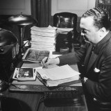 Director of the Fbi J. Edgar Hoover Working at His Desk Photographic Print