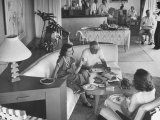 People Enjoying Casual Party in Modern Home Premium Photographic Print by Ed Clark