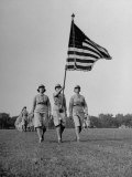 Wacs Carrying Flag for First Time at Retreat Premium Photographic Print