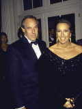 Married Fashion Designers Stephan Weiss and Donna Karan Premium Photographic Print
