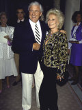 Television Personality Merv Griffin and Actress Eva Gabor Reproduction photographique sur papier de qualité par David Mcgough