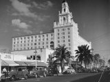 Exterior of Roney Plaza Hotel Premium Photographic Print by Ed Clark