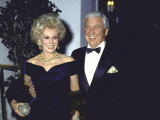 Actress Eva Gabor and Television Personality Merv Griffin Premium Photographic Print by David Mcgough