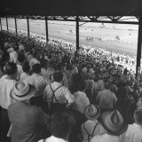 People Watching Horse Racing Photographic Print