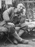 Gen. Joseph Stilwell at Headquarters During Burma Campaign Premium Photographic Print