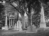 Monuments and Trees in Greenwood Cemetery Premium Photographic Print by Alfred Eisenstaedt