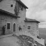 American Gi's Milling around Adolf Hitler's Mountain House Photographic Print