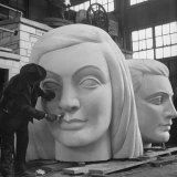 Heads of Figures Weigh About 600 Pounds Each Photographic Print by Martha Holmes