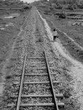 Railroad Tracks Going Nowhere, During the Famine Premium Photographic Print