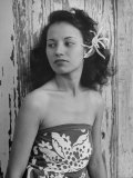 Portrait of Young Hawaiian Woman Premium Photographic Print