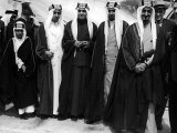 Saudi Arabian Delegates Arriving in San Francisco Premium Photographic Print by Ralph Crane