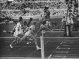 Usa Dave Sime and German Armin Hary at End of Men's 100-Meter Dash Premium Photographic Print