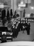 Vienna Boys Choir Singing at Salzbueg Festival Premium Photographic Print