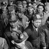 Miners Coming to Vote During Coal Miners Strike Photographic Print by Ed Clark