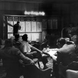 Horse Betting and Bookmakers Going on as a Gambling Option Photographic Print by J. R. Eyerman