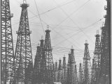 Mass of Oil Derricks at Spindletop Oil Field Photographic Print