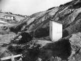 An Outhouse in an Area That Is Plagued with Soil Erosion Premium Photographic Print by Alfred Eisenstaedt