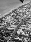 Aerial View of Rows of Hotels Lining the Streets of This Popular Resort City Premium Photographic Print by Alfred Eisenstaedt