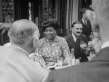 Edith S. Sampson and Cyrille Makinsky at Fouquet's Restaurant Premium Photographic Print