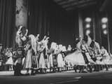 Folk-Dance Performance, Part of Celebration of 20th Anniversary as a Communist State Premium Photographic Print by Carl Mydans