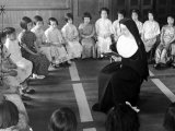 Nun Reading to Children During Story Hour at Parochial School Premium Photographic Print by Alfred Eisenstaedt