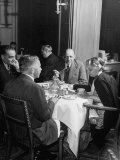 Associate Consultant to America Delegation Dr. W. E. B. Dubois, Eating Lunch with Other Consultants Photographic Print by Peter Stackpole