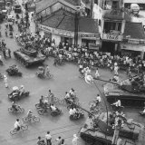 Traffic on the Streets of Saigon Photographic Print