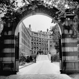 Exterior View of Hospital Building with Gate Leading to the Property Photographic Print