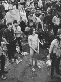 Hippies at Woodstock Music Festival Photographic Print